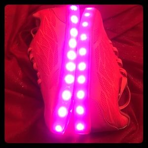 New pink light shoes, 6 colors, 4 modes. Size 6.5